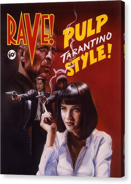 Pulp Fiction Canvas Print - Pulp Fiction by Timothy Scoggins