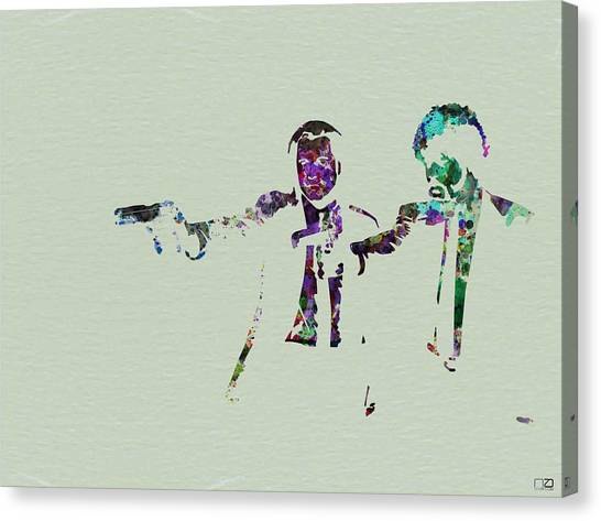 Pulp Fiction Canvas Print - Pulp Fiction Watercolor by Naxart Studio