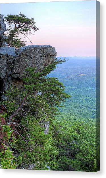 Pulpit Rock Mt Cheaha Canvas Print by JC Findley
