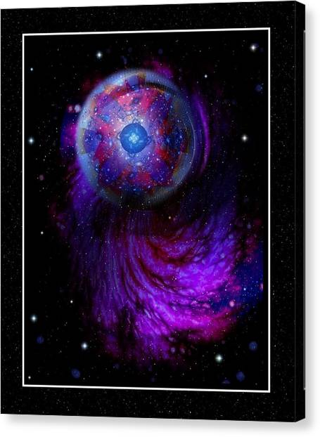 Pulsar At The Edge Of Space Canvas Print