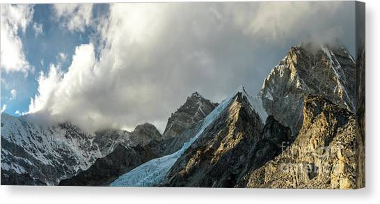 K2 Canvas Print - Pumori And Changri Peaks by Mike Reid