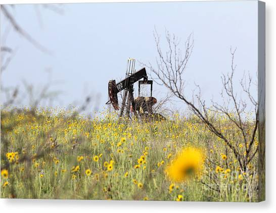 Pumpjack 122 Canvas Print