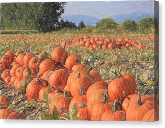 Pumpkin Patch Canvas Print - Pumpkin Harvest by Donna Kennedy