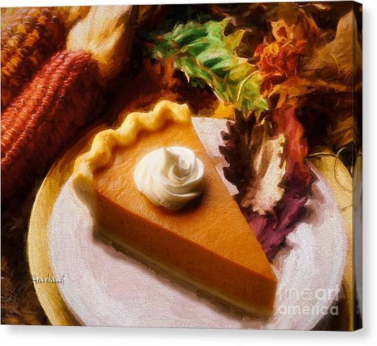 Indian Corn Canvas Print - Pumpkin Pie by Garland Johnson