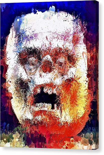 Pumpkin Scream Canvas Print