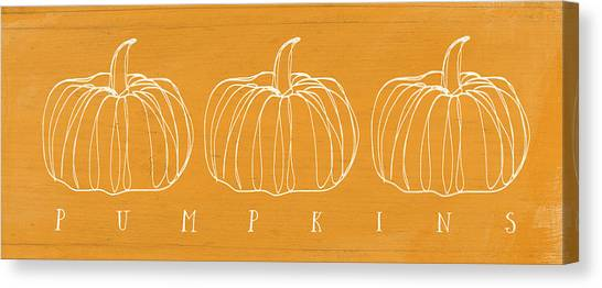 Thanksgiving Canvas Print - Pumpkins- Art By Linda Woods by Linda Woods