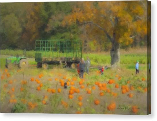 Pumpkins At Langwater Farm Canvas Print