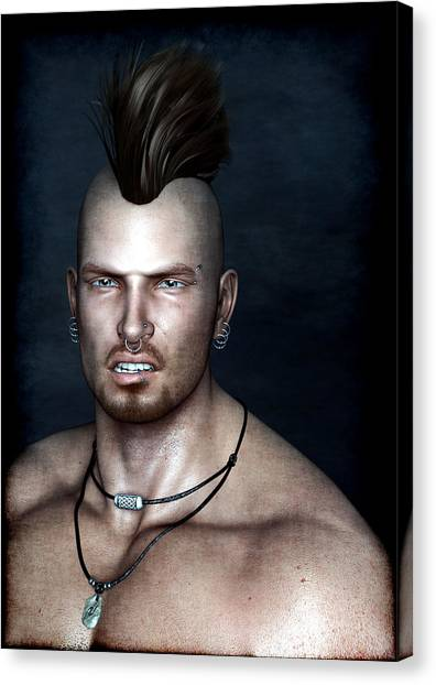 Punk Portrait Canvas Print