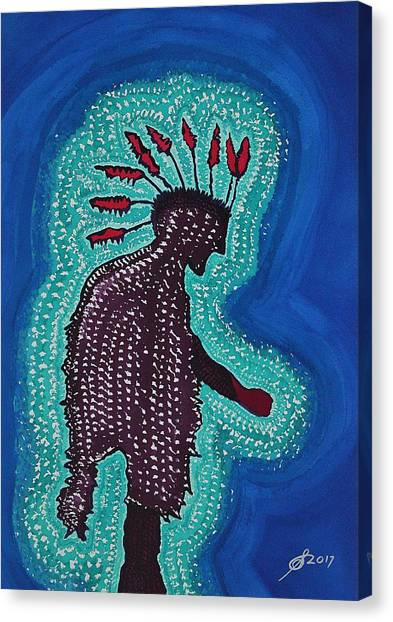 Punk Shaman Original Painting Canvas Print