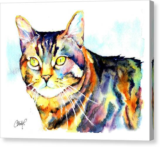 Punky Kitty  Canvas Print