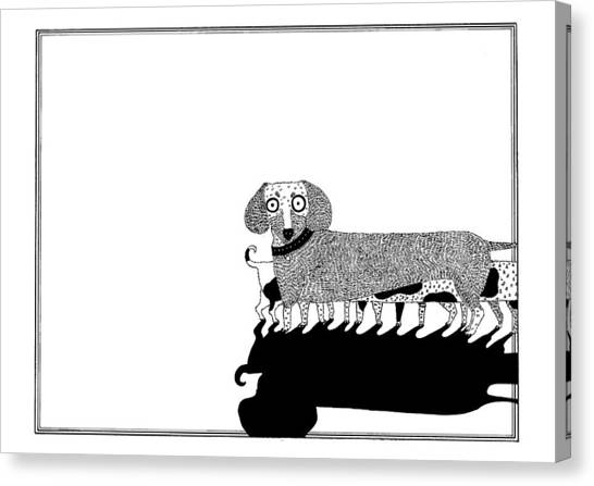 Puppies Canvas Print by Anastassia Neislotova