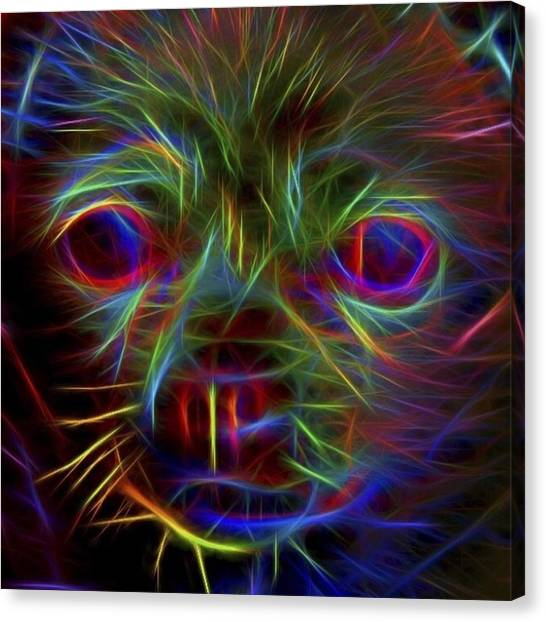 Kiss Canvas Print - #puppy #puppylove #cute #adorable by David Haskett II
