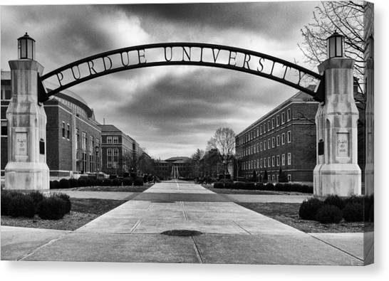 Purdue University Canvas Print - Purdue Entrance Sign by Coby Cooper