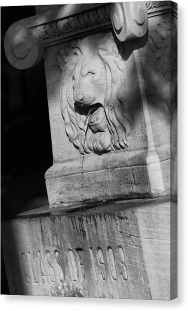 Purdue Lion Fountain Canvas Print