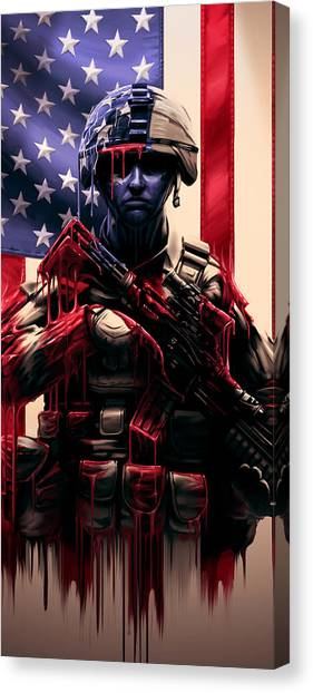 Army Canvas Print - Pure Valor by Canvas Cultures
