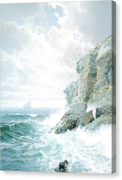 Purgatory Canvas Print - Purgatory Cliff by William Trost Richards