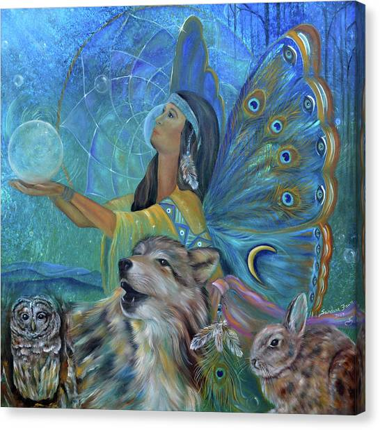Catchers Canvas Print - Purification by Sundara Fawn