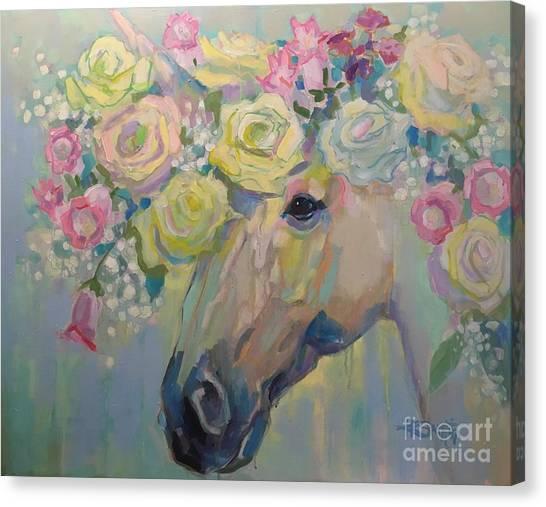Unicorns Canvas Print - Purity by Kimberly Santini