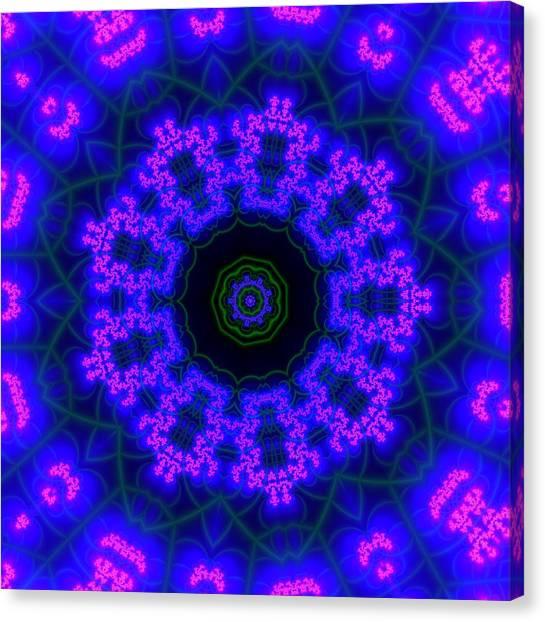 Purple 9 Lightmandala Canvas Print