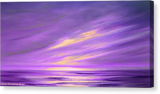 Purple Abstract Sunset Canvas Print