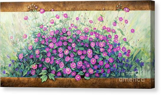 Purple And Pink Flowers Canvas Print