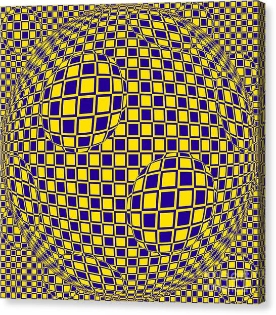 Purple And Yellow Sphere Untitled Canvas Print