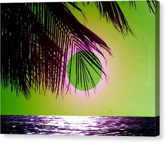 Purple Beach Canvas Print by Juana Maria Garcia-Domenech