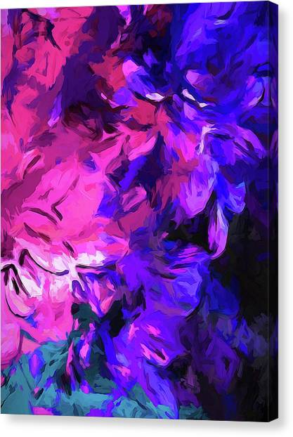 Purple Behind Pink Canvas Print