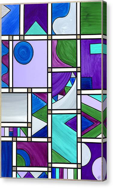 Purple-blue-green Abstract 3 Canvas Print by Patty Vicknair