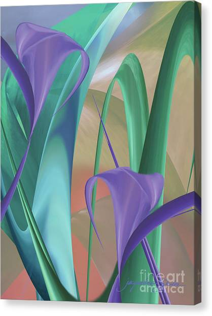 Purple Calla Lilies Canvas Print