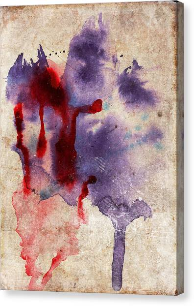 Purple Color Splash Canvas Print