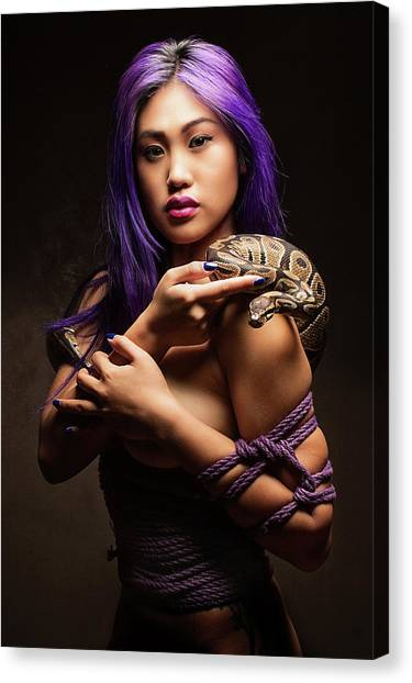 Submission Canvas Print - Purple by David April