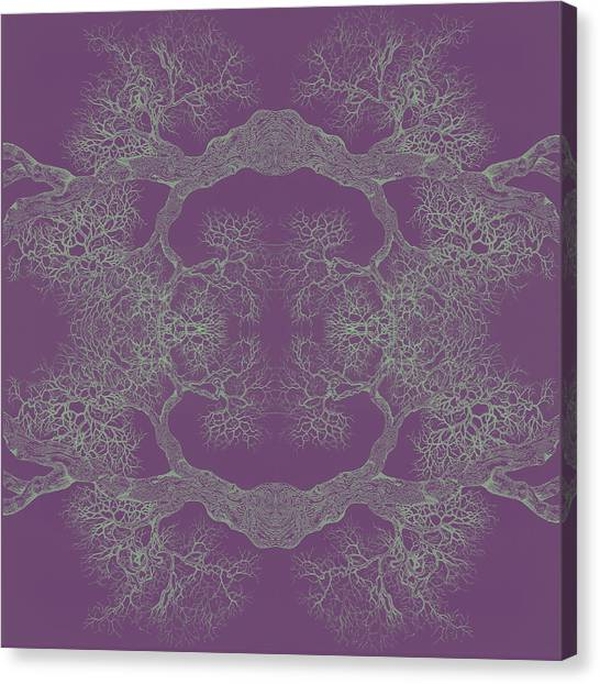Purple Desire Tree 8 Hybrid 1 Canvas Print