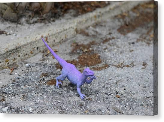 Tyrannosaurus Canvas Print - Purple Dinosaur - Sharon Cummings by Sharon Cummings