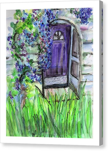 Purple Doorway Canvas Print
