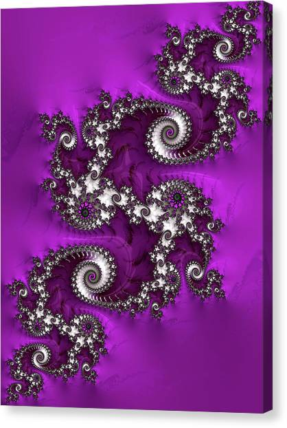 Purple Dragon Canvas Print