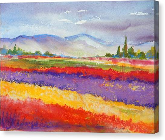 Purple Fields Canvas Print