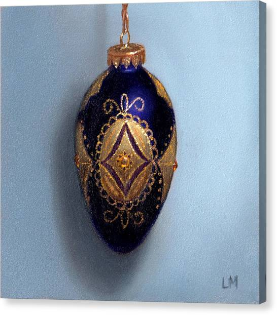 Purple Filigree Egg Ornament Canvas Print