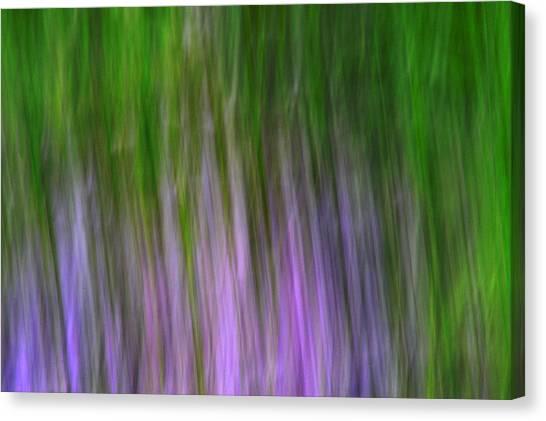 Purple Flames Canvas Print