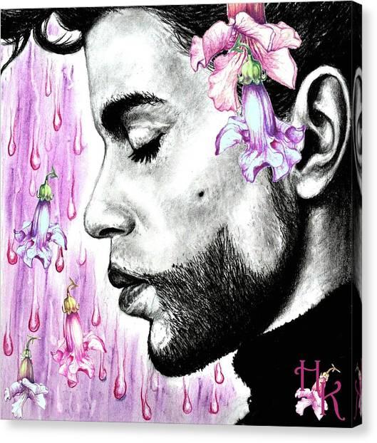 Purple Flower Rain  Prince, Roger Nelson Canvas Print