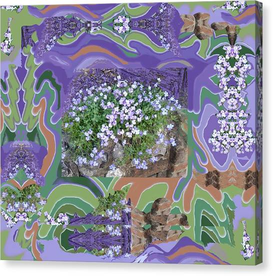 Purple Flower Textured Photo 1028d Canvas Print