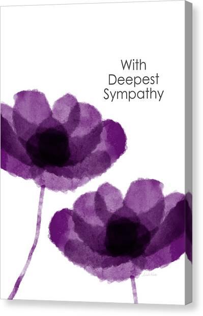 Sympathy Canvas Print - Purple Flowers Sympathy Card- Art By Linda Woods by Linda Woods