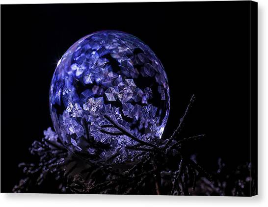 Purple Frozen Bubble Art Canvas Print