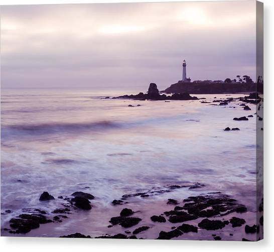 Canvas Print featuring the photograph Purple Glow At Pigeon Point Lighthouse Alternate Crop by Priya Ghose