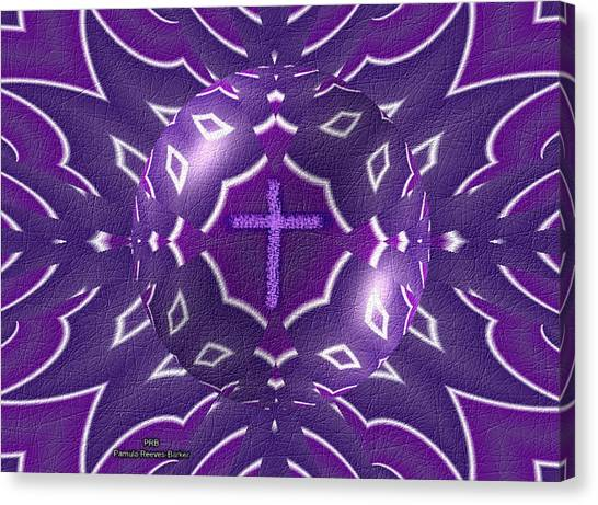 Canvas Print - Purple Grace by Pamula Reeves-Barker