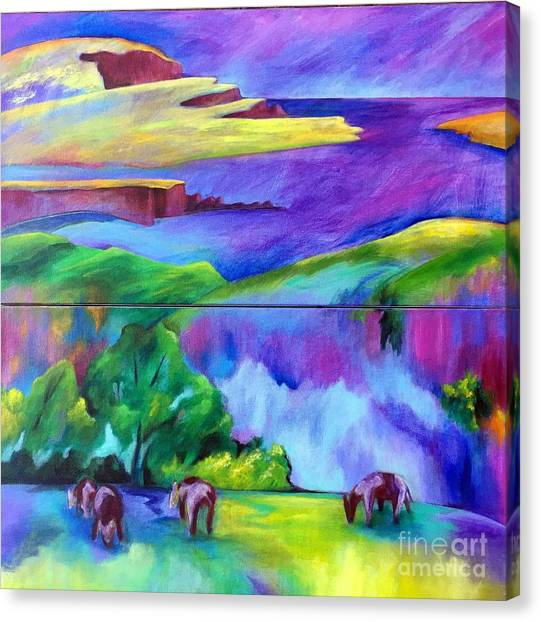 Purple Graze Canvas Print
