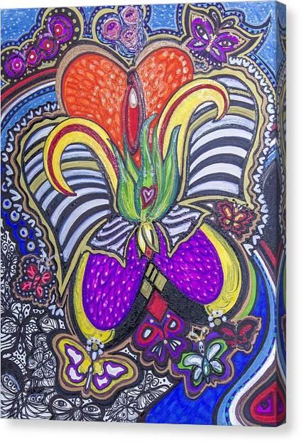 Purple Growth Canvas Print