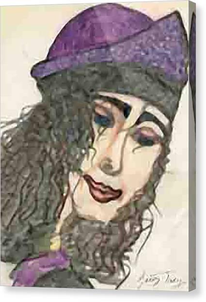 Purple Hat Canvas Print