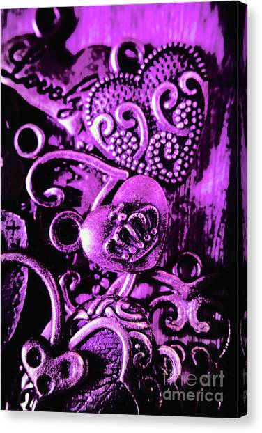 Heart Shape Canvas Print - Purple Heart Collection by Jorgo Photography - Wall Art Gallery