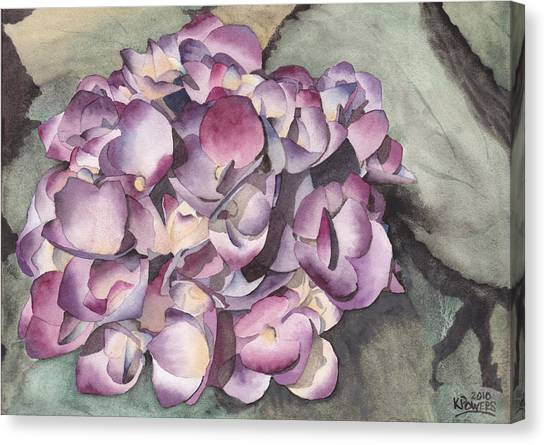 Purple Hydrangea Canvas Print
